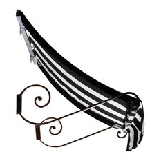 "3' Charleston Window Awning, 31"" Hx24"" D, Black And White"