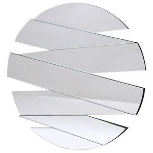 Frameless Segmented Round Wall Mirror, 90x90 cm