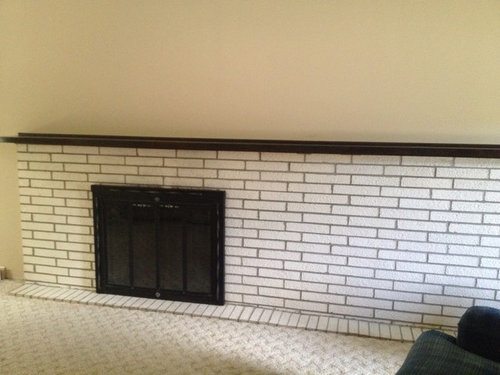 How Can We Update This Painted Brick Fireplace