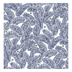 Athina Navy Fern Wallpaper Bolt