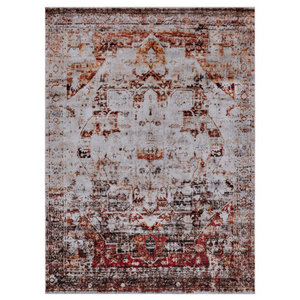 Grenora Vintage Style Medallion Blue Area Rug Traditional Area Rugs By Hauteloom Houzz