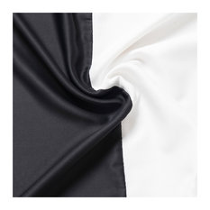 """Oxford Outdoor Colorblock Curtains, White/Black, 52""""x96"""""""