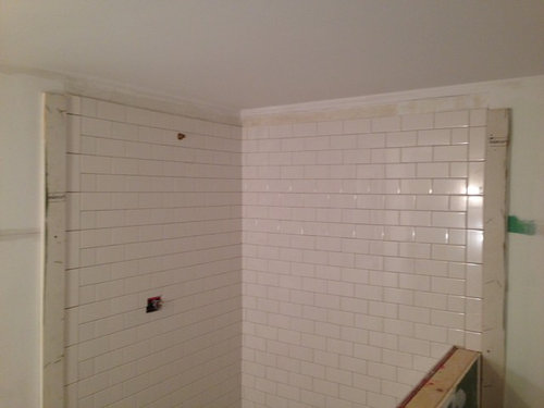 Subway Tile And Uneven Ceiling