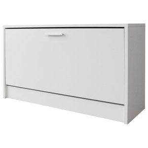 vidaXL Shoe Storage Bench, 80x24x45 cm, White