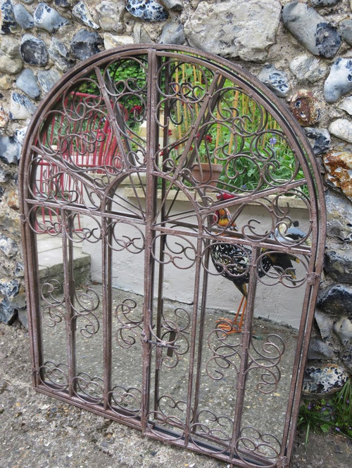 Ornate Gate Mirror  Metal Garden Mirror   Products