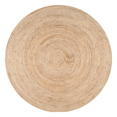nuLOOM Hand Woven Jute and Sisal Rigo Area Rug, Natural, 4' Round