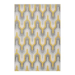 Nova Rectangular Rug, Shades of Yellow, 120x170 cm