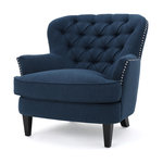 Madene Tufted Back Fabric Club Chair Traditional