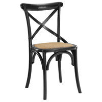 Wood Dining Side Chair, Black