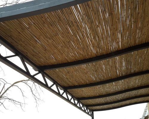 P rgola con ca izo de bamb - Canizo de bambu ...