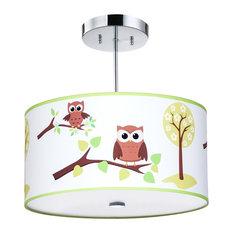 Firefly Kids Lighting - Owl Light Fixture - Kids Ceiling Lighting