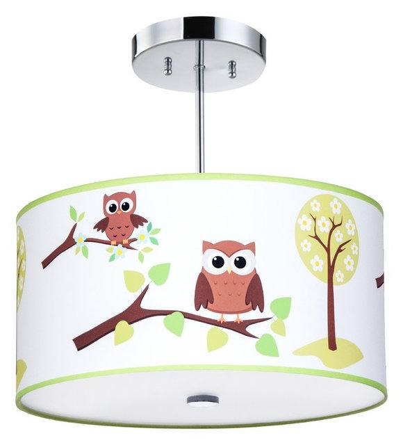 Kids ceiling lighting owl light fixture