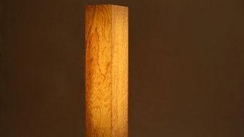 Brennholz Design Leuchten