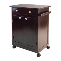 Winsome Wood Transitional Espresso Composite Wood Cart
