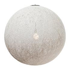 """String Pendant Lamp, White, 36"""""""