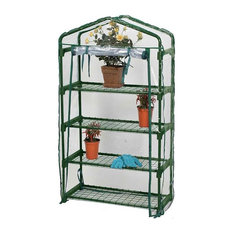 Greenhouse With 4-Wire Shelves