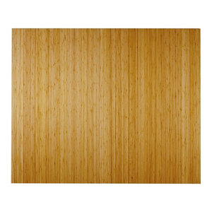 """Bamboo Deluxe Roll-Up Chair Mat, Natural, 60""""x48"""", No Lip"""