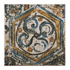 "SomerTile 7.75""x7.75"" Provence Tradition Ceramic Floor/Wall Tile, Iris"