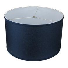 """Fenchel Shades, 18""""x18""""x11' Spider Attachment Drum Lamp Shade, Linen"""