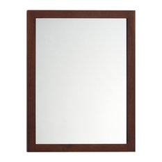 Framed Bathroom Mirrors Houzz walnut bathroom mirrors | houzz