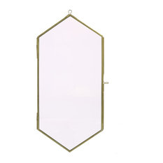 Monroe Geo Wall Frame, Large, Brass