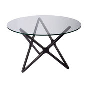 Star Crossed Dining Table, Black Ash Base