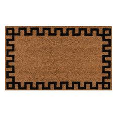 Erin Gates by Momeni Park Greek Key Natural Hand Woven Natural Coir Doormat