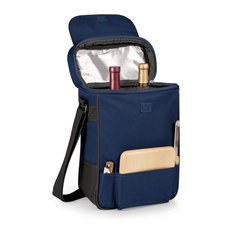 Duet Wine And Cheese Tote, Navy
