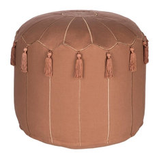 Surya Delhi DLPF-002 Bohemian/Global Woven Pouf