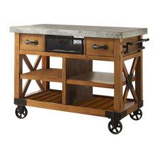 Kailey Cart, Antique Oak Finish