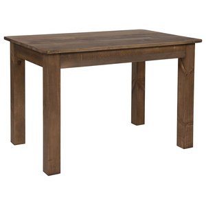 """Offex 46""""x30"""" Rectangular Antique Rustic Solid Pine Wood Farm Dining Table"""