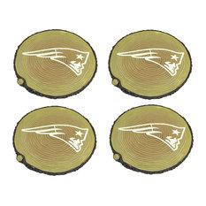 New England Patriots Glow in The Dark Tree Stump Stepping Stones, Set of 4