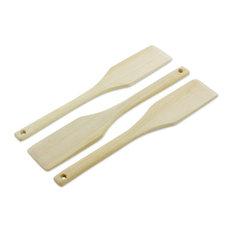 Cocina Natural Wood Spatulas, Set of 3