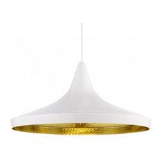 Beat Pendant Lights-Wide Pan, White