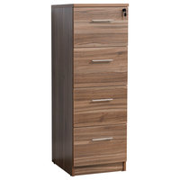 100 Collection 4-Drawer Vertical Filing Cabinet, Walnut