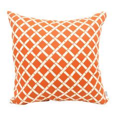 Outdoor Burnt Orange Bamboo Large Pillow