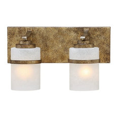 Millennium Lighting Benton 2-Light Vanity Light, Gold, Light Scavo, 3302-VG