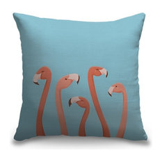 """""""Take a Flock on the Wild Side"""" Pillow 16""""x16"""""""