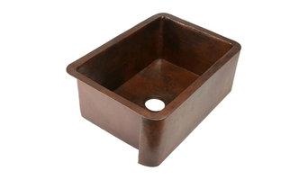 "30"" Small Fernanda Single Well Copper Farmhouse Sink"