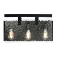 "Westinghouse 6352100 Zane 3 Light 21""W Bathroom Vanity Light - Black"