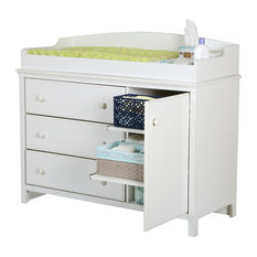 South S Cotton Candy Changing Table With Station Pure White