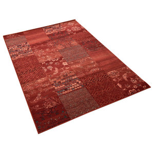 Kashqai Red Terra Rectangular Traditional Rug, 160x240 cm