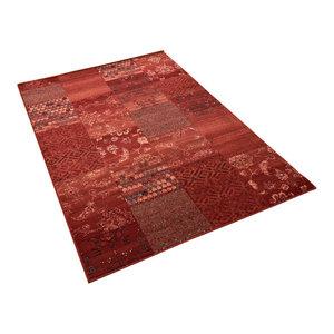 Kashqai Red Terra Rectangular Traditional Rug, 160x240 cm