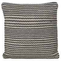Alina Black and White Cotton Pillow, Single