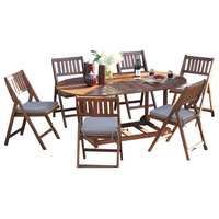 Coronado 7-Piece Wood Fold and Store Dining Set