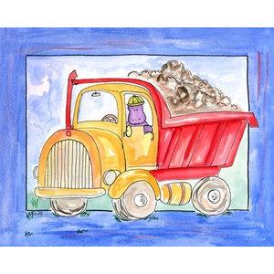 Prints or Canvas Wall Art Decor Kids Bedroom Baby Nursery Dinosaur Truck Bront