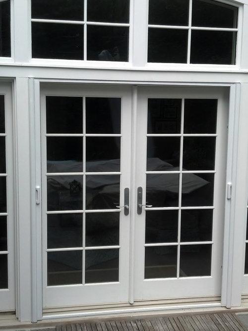 Mirage retractable door screens french double doors - Double french doors with screens ...