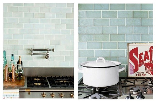 Sea Glass Backsplash Tile