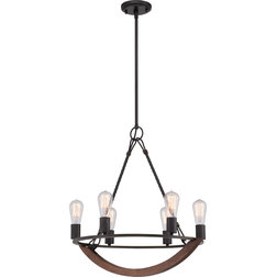 Elegant Industrial Chandeliers by Quoizel