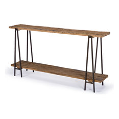 bartlett rustic lodge wood metal rectangle console table console tables